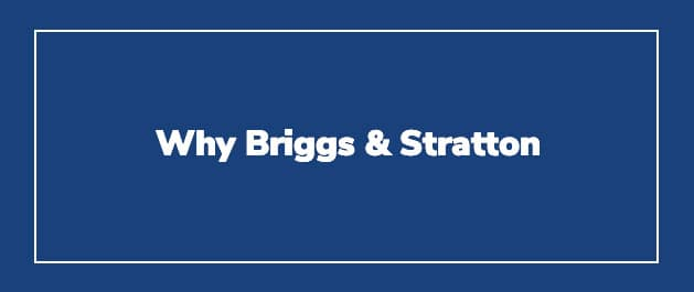 Why Briggs & Stratton Power